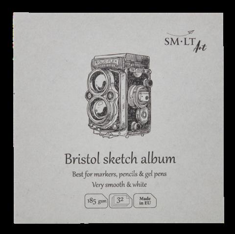 Альбом SM-LT Layflat Bristol 182г/м2 14х14см 32л экстрабелый