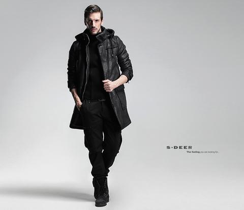 Мужское пальто ис. кожа «GEASA» купить