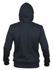 "Dark-grey insulated hoodie kangaroo ""Northen blood"" with zipper"