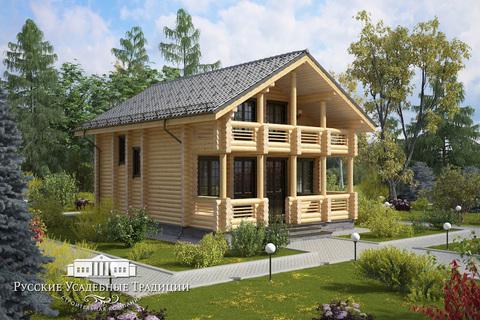 """Проект двухэтажного дома """"Лира"""" 124 кв.м."""