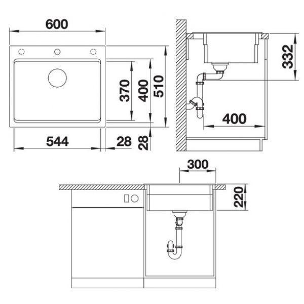 Кухонная мойка Blanco Etagon 6, бетон