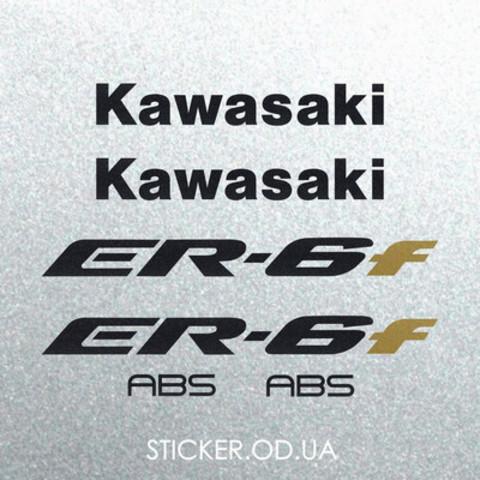 Набор виниловых наклеек на мотоцикл KAWASAKI ER-6F 2007