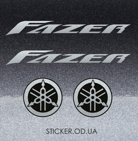 Набор виниловых наклеек на мотоцикл YAMAHA FZ6 FAZER 2004