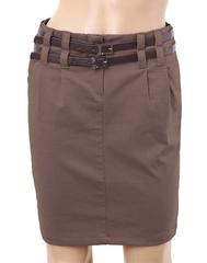 5710  юбка коричневая