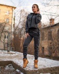 Женская кофта Bonafide EverLife (Dust Dark Gray)