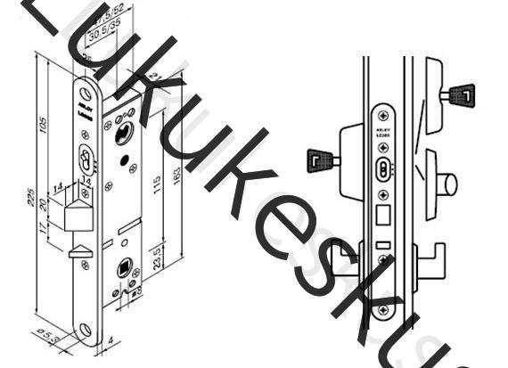 Lukukorpus Abloy LC305 30mm