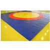 Ковер борцовский трехцветный 12х12м, наполнитель матов НПЭ 120кг/м3, толщина 5см
