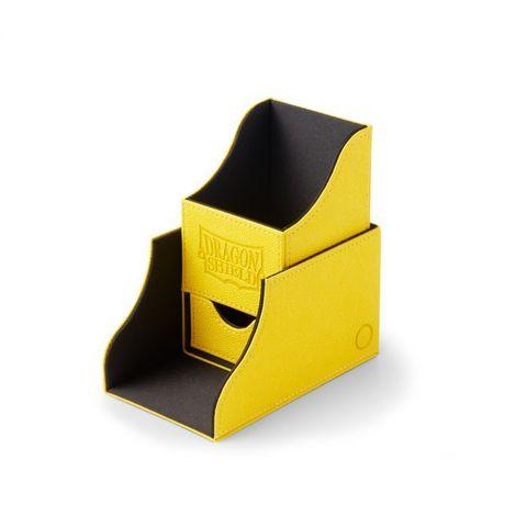 Dragon Shield - Чёрно-жёлтая коробочка Nest+ с отделением для кубиков (100 карт)