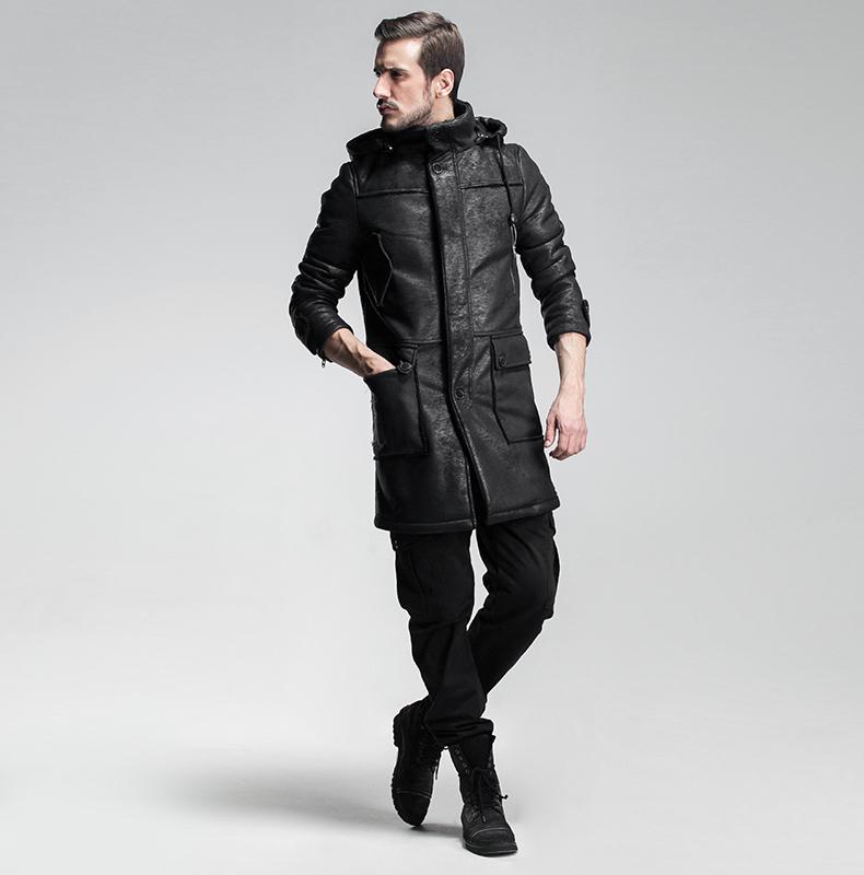 Мужское пальто ис. кожа «GEASA»