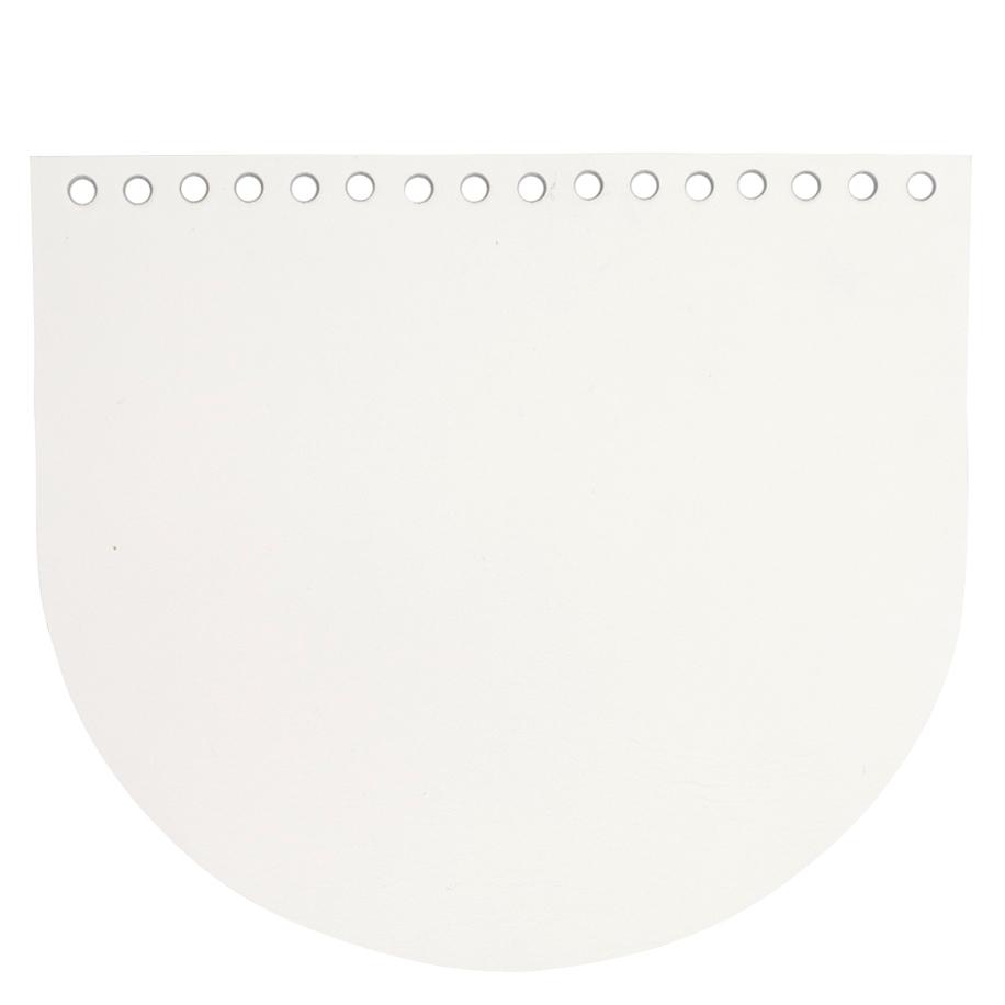 Кожаная фурнитура Клапан для сумочки кожаный белый IMG_93182.jpg