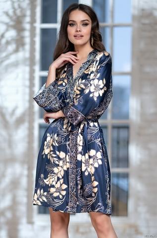 Халат женский MIA Amore BLUE-MARINE Блю Марин 8443