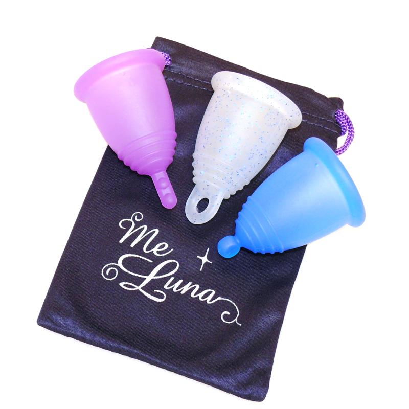 Менструальная чаша MeLuna SOFT(M) – прозрачная с блестками