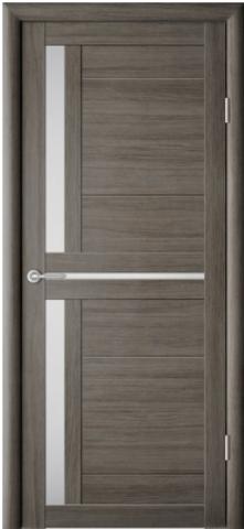 Дверь Фрегат ALBERO Кельн, стекло матовое, цвет серый кедр, остекленная