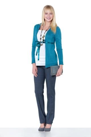 Блузка для беременных 01037 зеленый