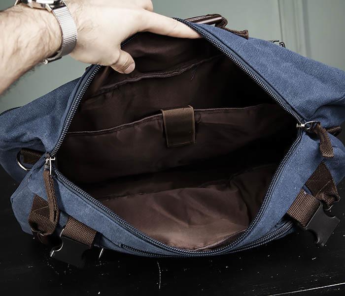 BAG479-3 Большая мужская сумка рюкзак трансформер фото 16