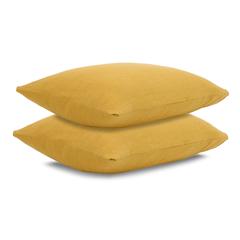 Наволочка льняная 50х70 Tkano Essential горчичная