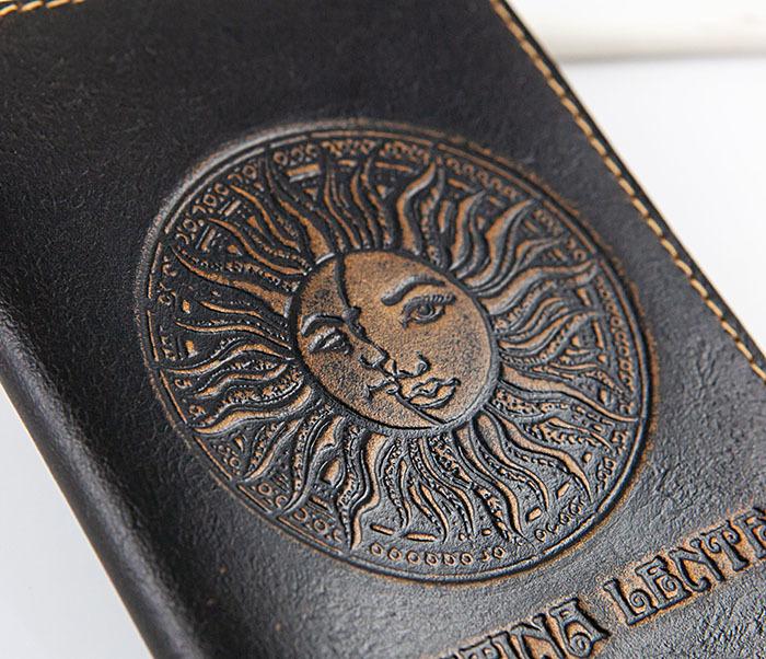 BY04-14-01 Кожаная обложка для авто документов с рисунком «Festina Lente» фото 02