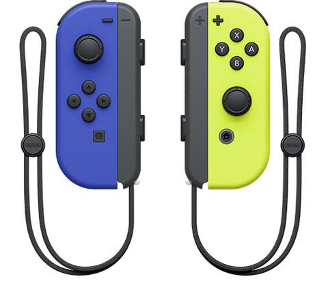 NS: Набор 2 контроллера JOY-CON (Синий/Неоновый желтый)