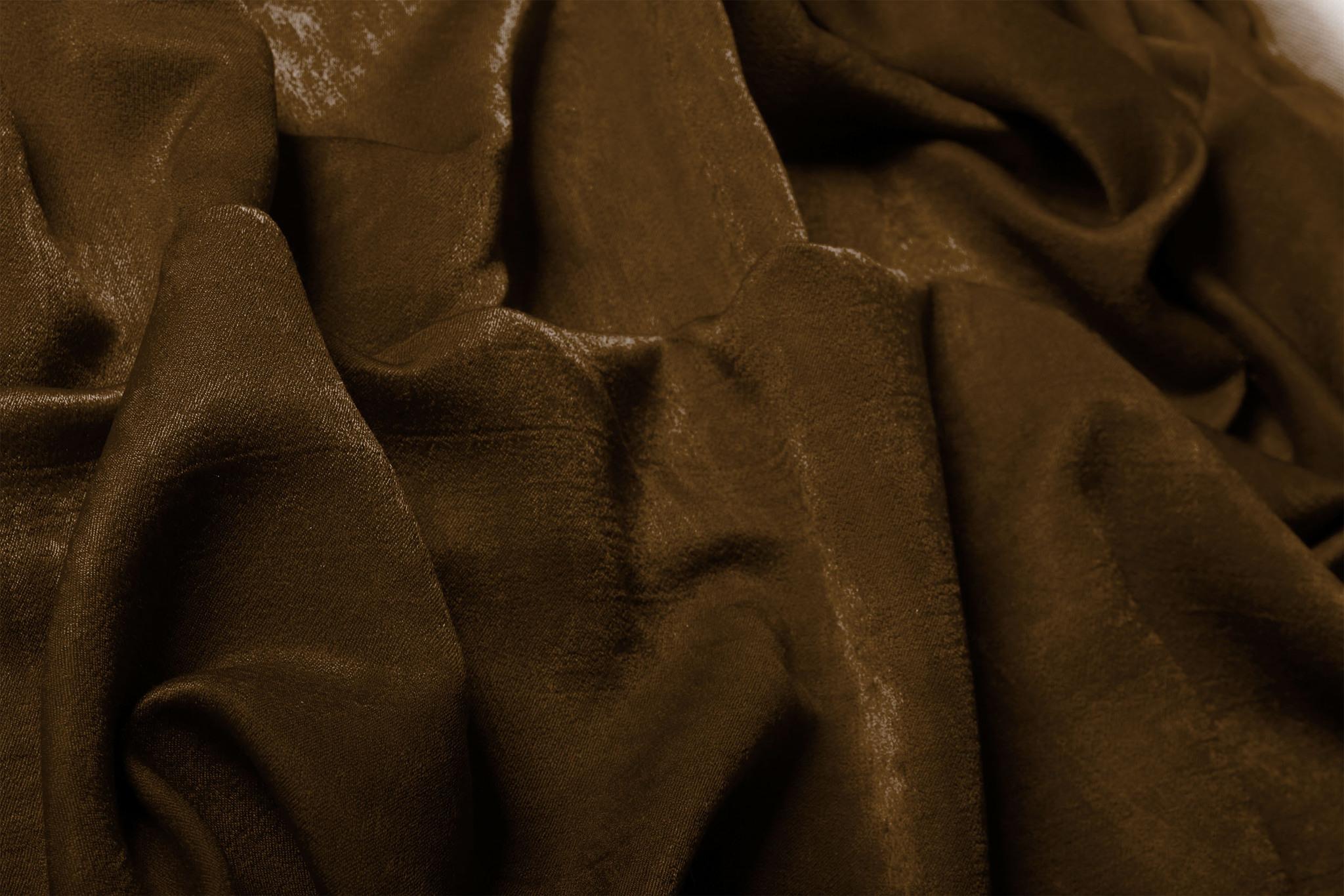 Длинные шторы. Suede (шоколад).  Имитация замши