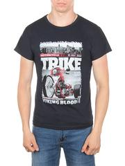 11113-4 футболка мужская, темно-синяя