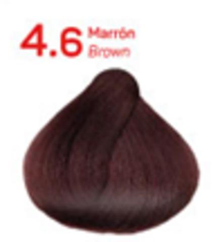4.6 коричневый. Краситель для волос с эффектом лифтинга KV-1