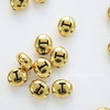 """Бусина овальная TierraCast """"Буква I"""" 7х6х3 мм (цвет-античное золото)"""