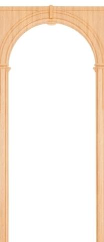 Арка межкомнатная ПВХ Арсенал, Палермо 70, цвет миланский орех
