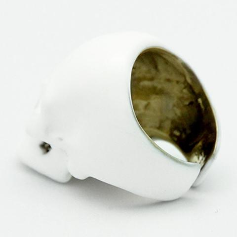 Кольцо Череп (белый)