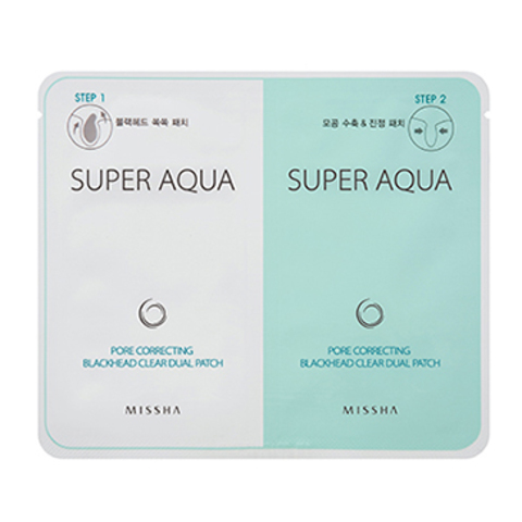 Missha Super Aqua Pore Correcting Blackhead Clear Dual Patch