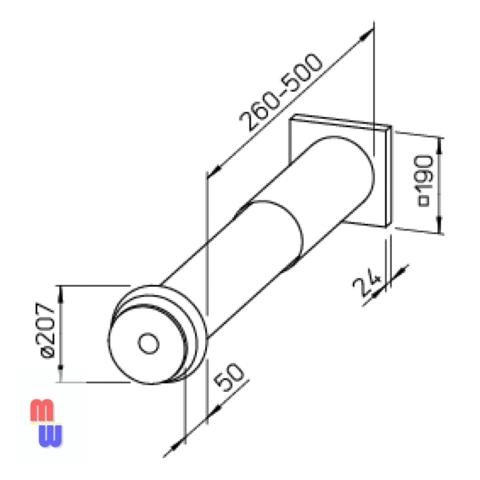Приточный клапан Helios ZLA 160 (саморегулирующийся)