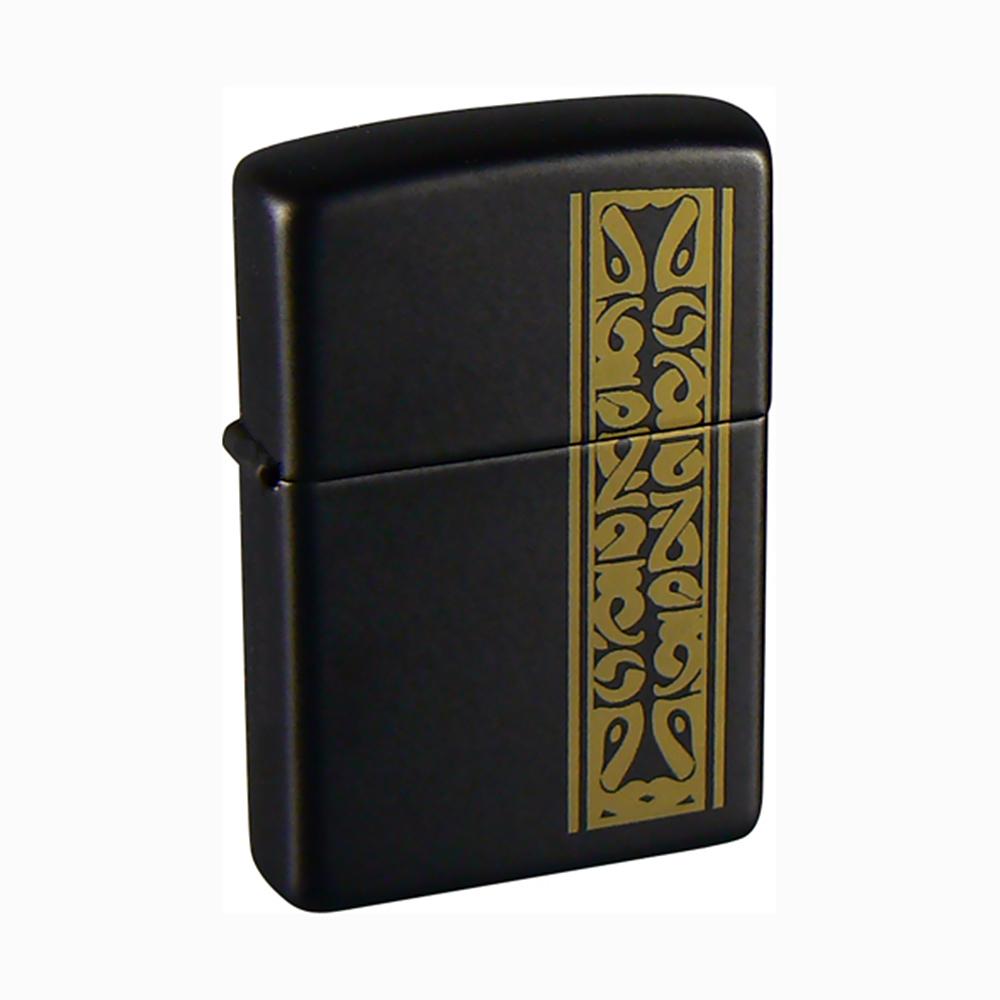Зажигалка Zippo №218 Black/brass