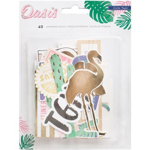 Высечки -коллекция Oasis от Crate Paper -40 шт.