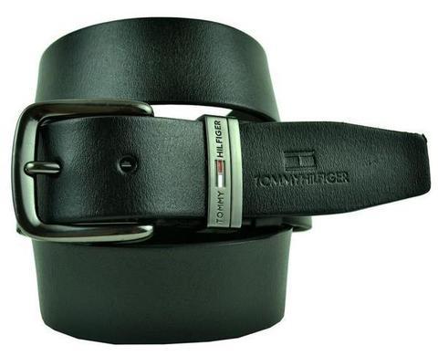 Ремень мужской для джинс чёрный Tommy Hilfiger (копия) 40 мм 40brend-KZ-280