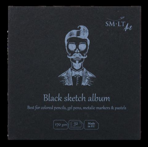 Альбом SM-LT Layflat Black 170г/м2 14х14см 32л черная бумага