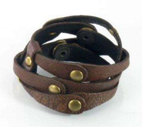 Кожаный браслет TRONIN AM-108BR