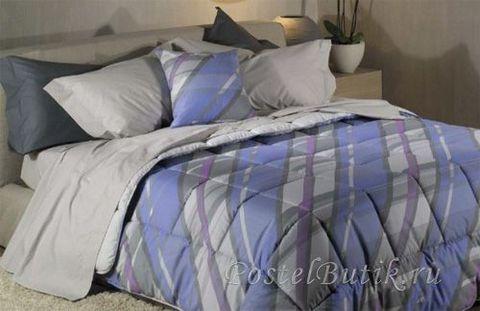 Постельное белье 2 спальное евро Caleffi Estee голубое