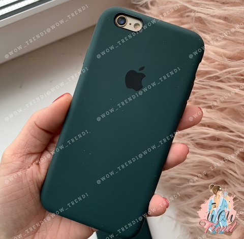 Чехол iPhone 6+/6s+ Silicone Case /forest green/ зеленый лес 1:1
