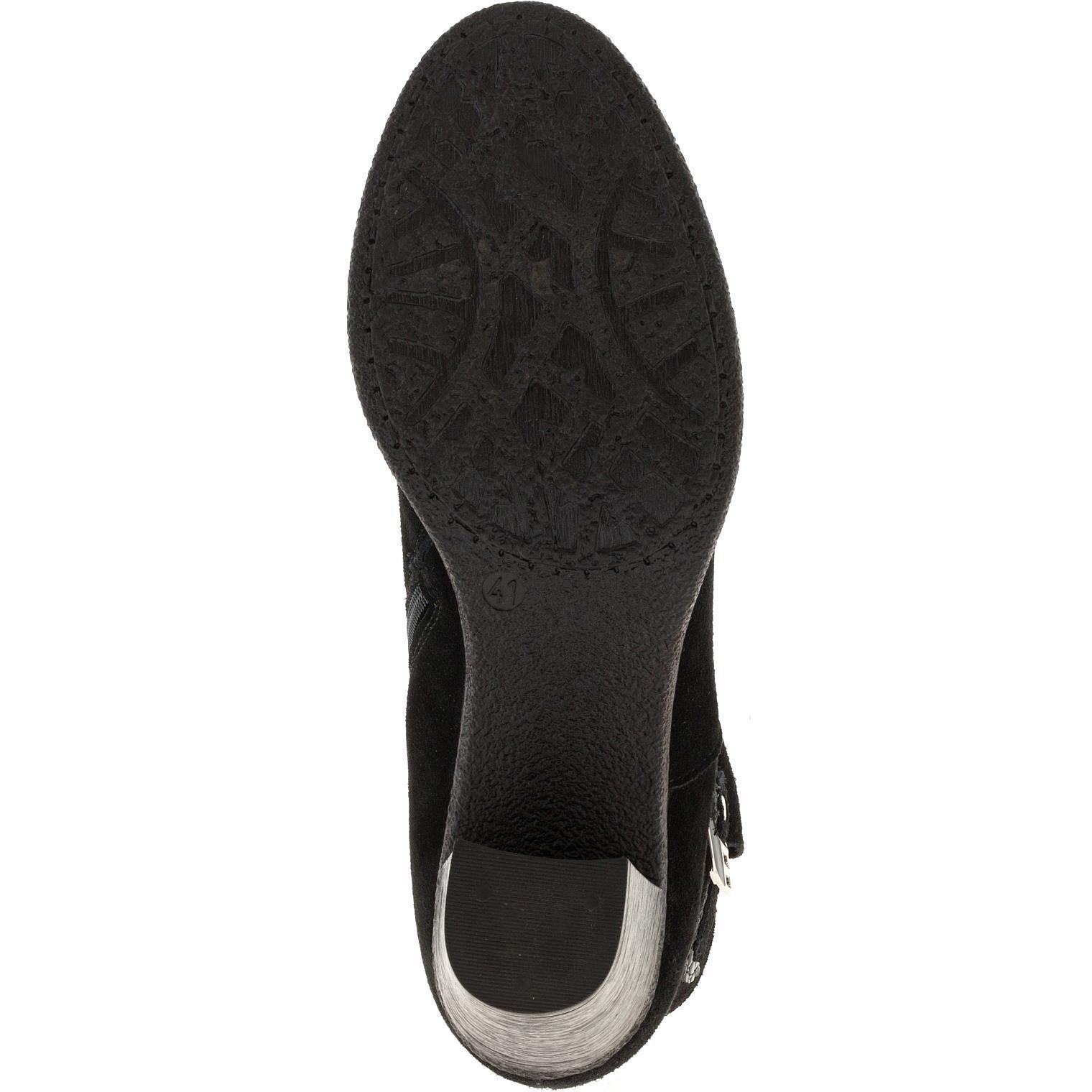638409 Полусапожки женские замша черные больших размеров марки Делфино