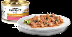 Gourmet Gold Кусочки в соусе с форелью и овощами 85 г