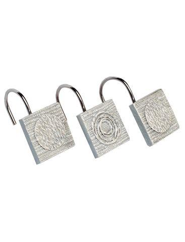 Набор из 12 крючков для шторки Avanti Galaxy Silver