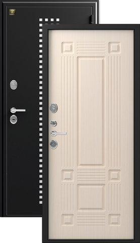 Дверь входная Зевс Z-5, 2 замка, 1,5 мм  металл, (чёрный шёлк+лиственница светлая)
