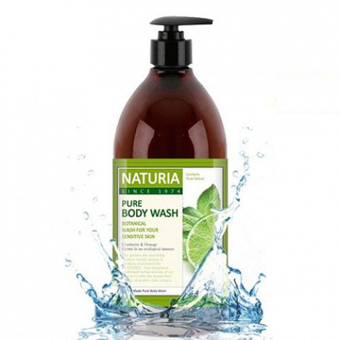 EVAS NATURIA Гель для душа МЯТА/ ЛАЙМ PURE BODY WASH Wild Mint & Lime, 750 мл