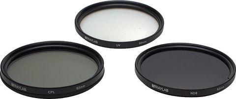 Набор фильтров RAYLAB UV/CPL/ND8 62mm