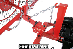 Ворошилка колесно-пальцевая ВМ-3 усиленная Спица 6мм