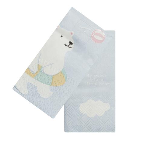 Платочки бумажные Polar bear Swim Yellow