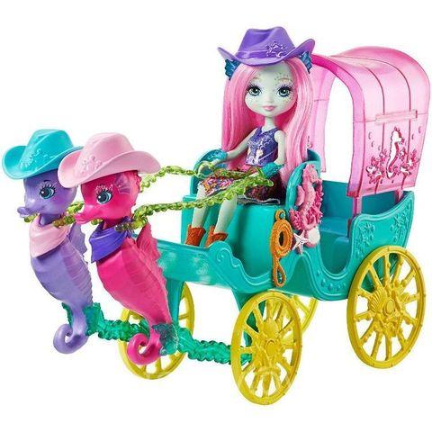 Кукла Энчантималс Санделла Морской конёк и двумя питомцами - Enchantimals, Mattel