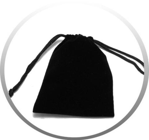 Небольшой подарочный бархатный чёрный мешочек для упаковки подарков 11Х8,5 см с верёвочкой