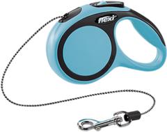 Поводок-рулетка Flexi New Comfort XS (до 8 кг) трос 3 м черный/синий