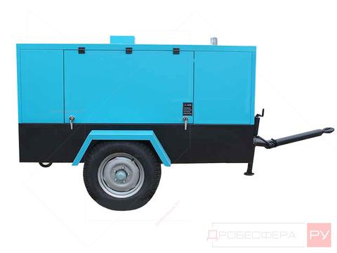 Дизельный компрессор на 5000 л/мин и 7 бар DLCY-5/7 SKY108LM