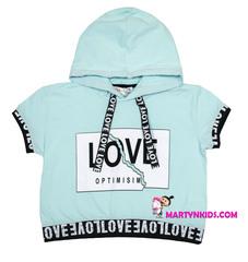 1502 футболка  с капюшоном LOVE